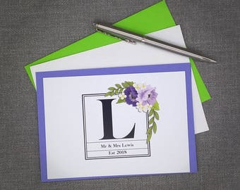 Personalised Mr & Mrs Thank You Notes   Personalised Stationary   Thank You Cards   Thank You Notes   Wedding Thank You