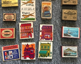 Collection of vintage Matchbox covers