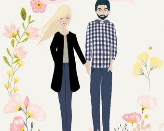Custom Family Portrait - Background