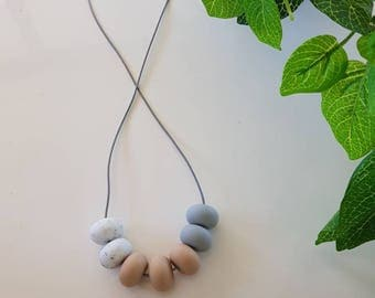 Gritty neutrals sensory necklace