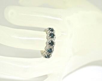 18k White Gold, Diamond Ring. Size 7