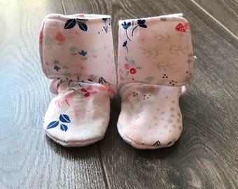 Stay on Booties, Stay on Baby Booties, Stay on Baby Shoes, Stay on Baby Boots, Stay on Slipper