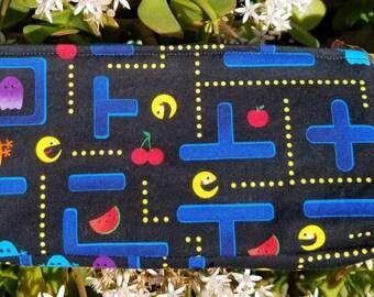 Pac man cosmetic bag