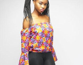 Ankara off shoulder blouse