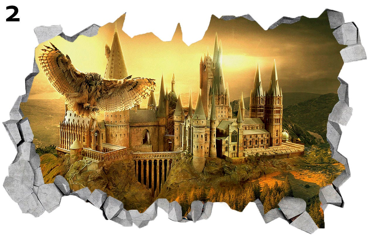 Hogwarts Castle Harry Potter 3D Wall Decal Sticker Vinyl Decor Mural ...