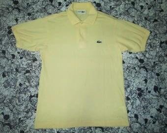 Lacoste yellow plain tshirt