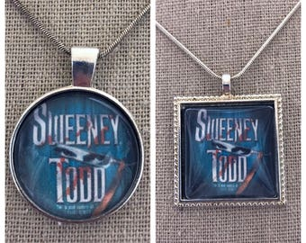 Broadway Musical Sweeney Todd pendant. Sweeney Todd keepsake.Broadway play Sweeney Todd jewelry
