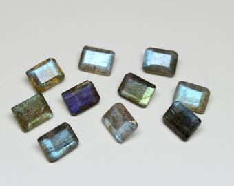 Natural Labradorite Faceted Octagon SIZE- 6x8 MM, 10 PCs Fire Labradorite Octagon gemstone in Wholesale Price HL46
