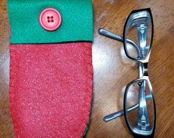 Christmas Eyeglass Case