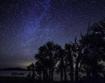 Boat on the Bay - Astrophotography Print