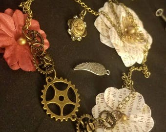 Long Gear and Cog Chain Necklace
