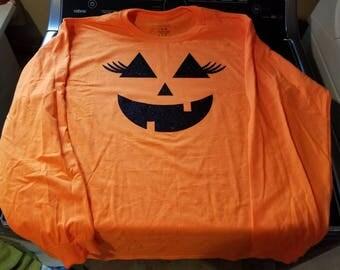 Pumpkin face shirt
