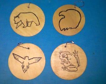 Animal Totem Keychains