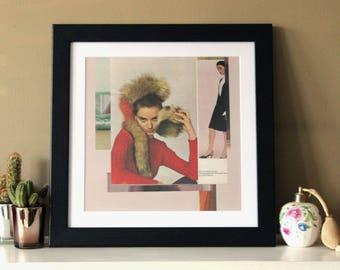 Fashion - Digital Collage Art Print Poster