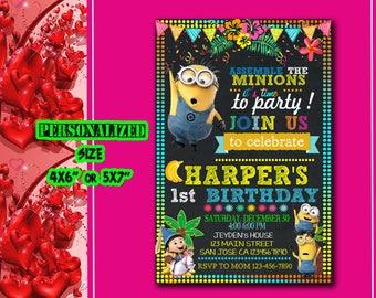 Minions Invitation, Minions Birthday, Minions Party, Minions Invite, Minions Birthday Invitation, Minions Party Invitation, Minions, SL554
