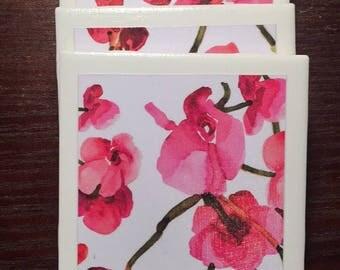 Floral Ceramic Coaster
