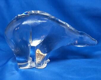 Baccarat Art Glass Paperweight Polar Bear