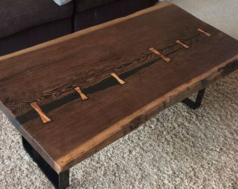 Live Edge Wenge Wood coffee table