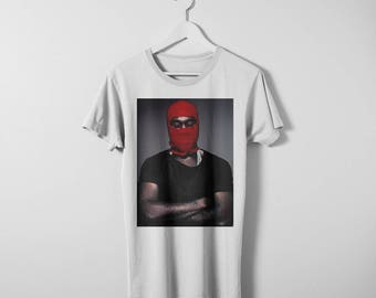 Kanye West T-shirt. Available in Men and women's sizes. Printed on a comfy Bella Canvas t-shirt.