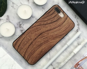 Wood iPhone Case iPhone X Case iPhone 8 Case iPhone 8 Plus Case iPhone 7 Case iPhone 7 Plus Case iPhone 6S Case iPhone 6S Plus Case Brown