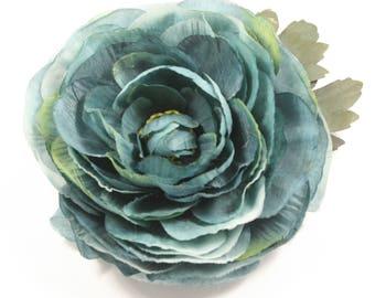 Dusty Blue Hair Flower