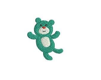 Mini Teddy Bear- Machine Embroidery Design