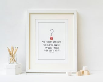 Hook Peter Pan Inspired Nursery Art Print
