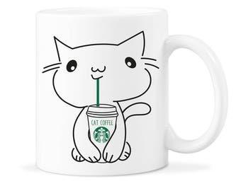 Cat lover Mug Gift Funny Cat Mug Gift Starbucks Cat Cute Cat Mug Gift Funny Starbucks Cat Mug Funny Starbucks Cat Starbucks Cat Mug