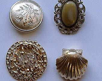 1950S SCARF CLIPS four