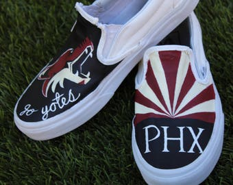 """Sports Team Shoes - """"Coyotes"""" Design"""