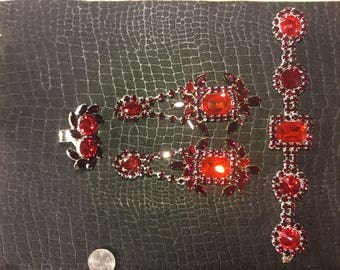 Red Rhinestone Set