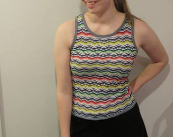 Missoni for target knit tank rainbow tank missoni knit