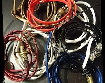 Faux leather women bracelets