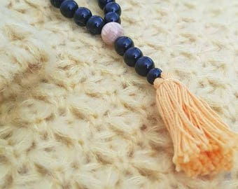 Beads and tassel necklace