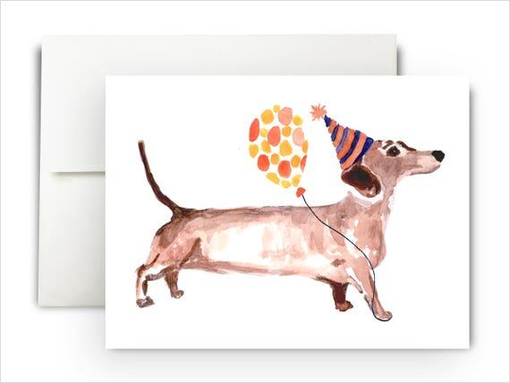 Happy Dachshund Birthday Card