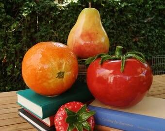 Ceramic Fruit Set of 4