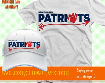 New England Patriots svg, Patriots svg, Patriots cut file, Arrow svg, Patriots iron on transfer, Commercial use, cricut, silhouette cameo