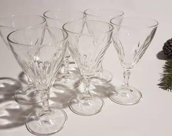 French Vintage Liqueur Glasses