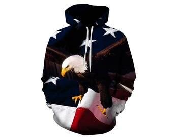 Eagle Hoodie, Eagle, Eagle Hoodies, Animal Prints, Animal Hoodie, Animal Hoodies, Eagles, Hoodie, 3d Hoodie, 3d Hoodies, Usa Hoodie Style 13