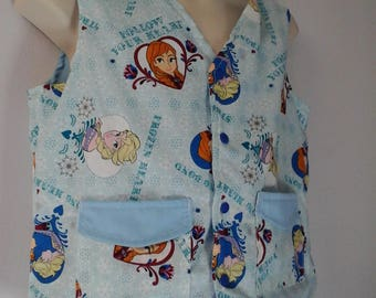 Sz 10-16 Weighted Vest for Child w/Special Needs and Sensory Issues. Frozen Sisters Print