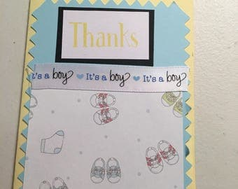 "Baby boy ""Thank You"" cards"
