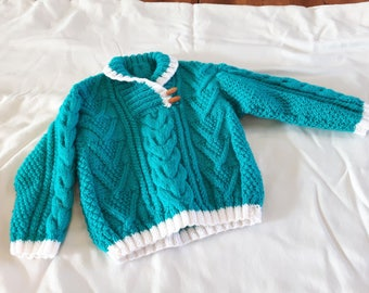 Handmade toddler knit pullover sweater