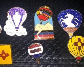 Vintage Lot of 8 Albuquerque Balloon Fiesta Pins