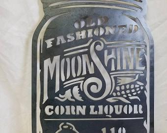 """LOOK! """"Moonshine""""  Metal Artwork"""