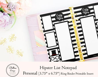 List Pad Printable, List Notepad, Notepad Printable, Printable Notes Page, Personal Size Insert, Personal Printable, Note Pad To Do, Notepad