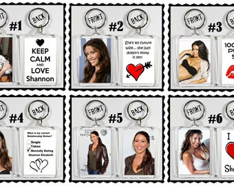 Shannon Elizabeth Acrylic Keychain - Choose Your Favorite 6 Different Designs