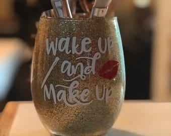 Custome made make up brush holder