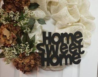 Hydrangea/Peony Wreath
