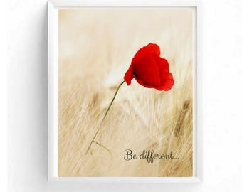 """Printable Art """"Be Different"""""""