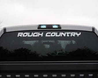 ROUGH COUNTRY SUSPENSIONS  racing dodge ford sticker (#471)